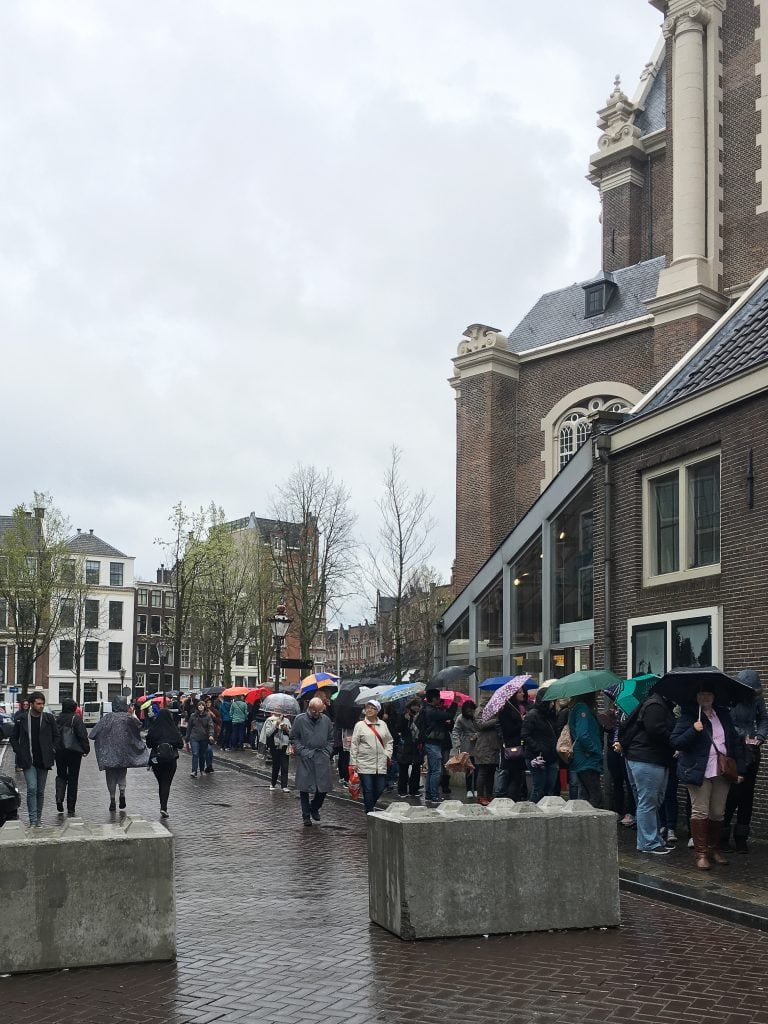 Amsterdam off the beaten path | The line at the Anne Frank House in Amsterdam, the Netherlands