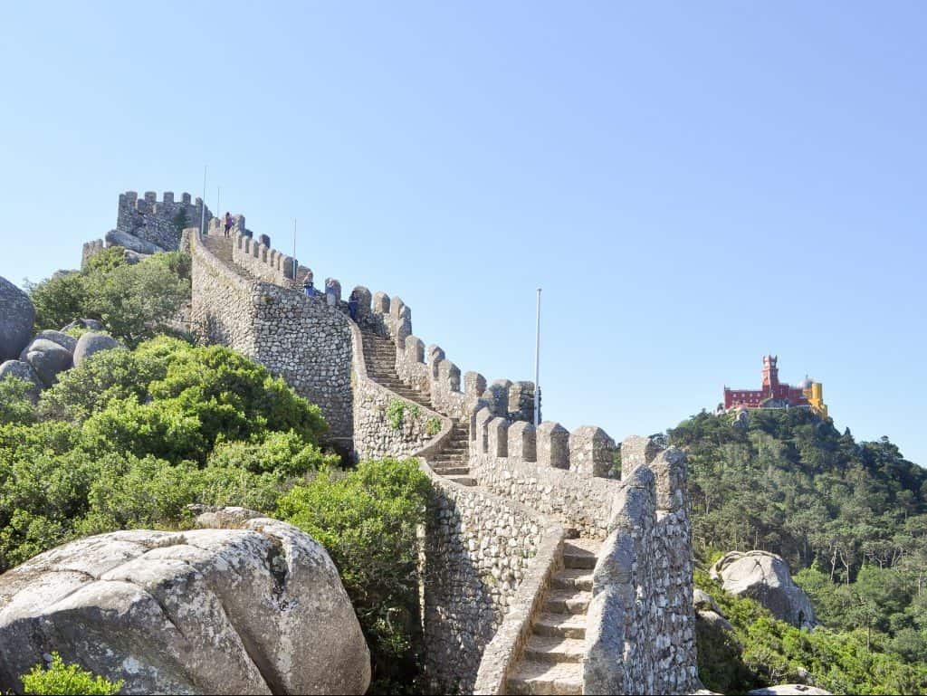 Castle of the Moors in Sintra, Portugal | Day Trip to Sintra from Lisbon, Portugal | How to spend one day in Sintra, Portugal