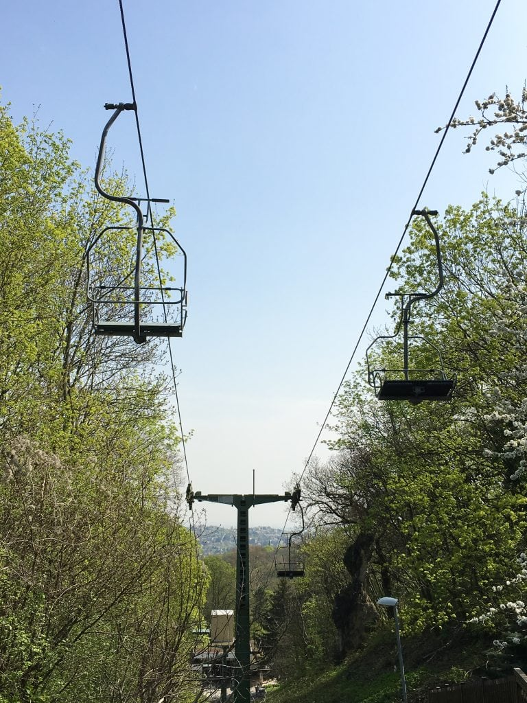 Chair lift in the Buda Hills Budapest Hungary