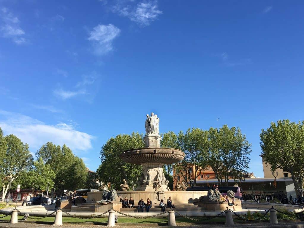 Fontaine de la Place de la Rotonde Aix-en-Provence France