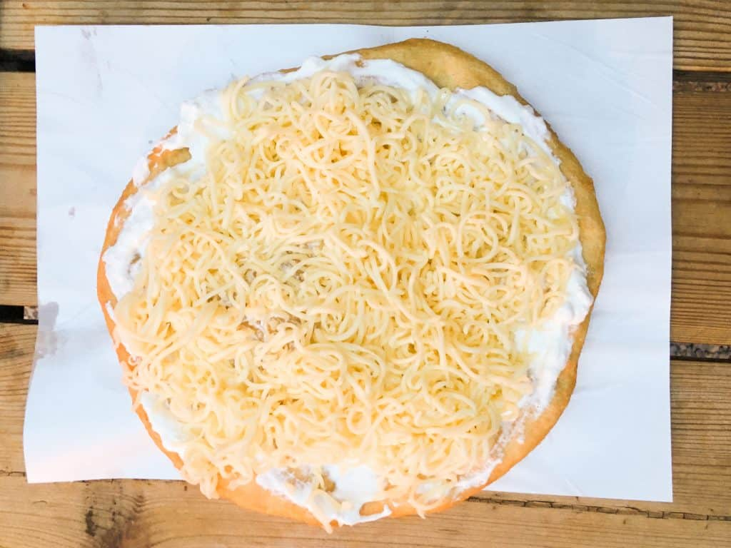 Langos Mashogy from Karavan street food park   Eating our way through Budapest's Jewish Quarter   We found ourselves exploring the Jewish Quarter in Budapest, Hungary almost every day for lunch, dinner, or just a snack, and it never disappointed. These are the best cafés, ruin pubs and restaurants in Budapest's Jewish Quarter.