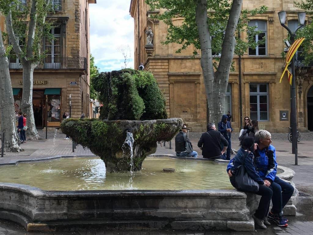 fontaine des neuf-canons Aix-en-Provence France