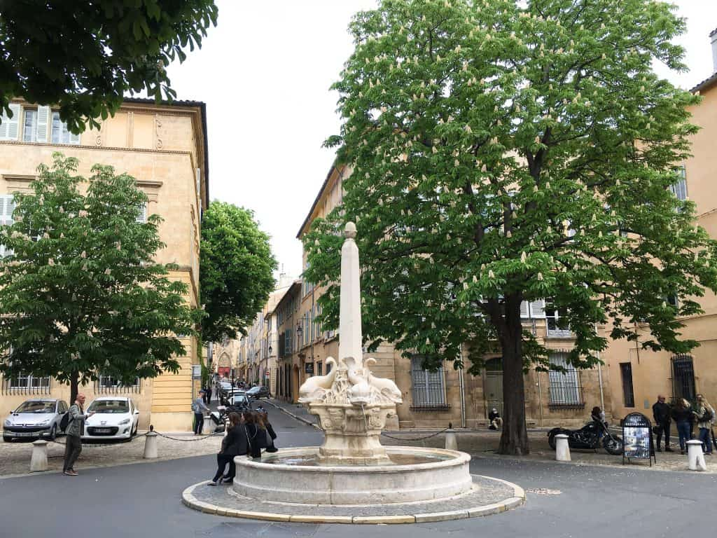 Fountain of Four Dolphins Aix-en-Provence France