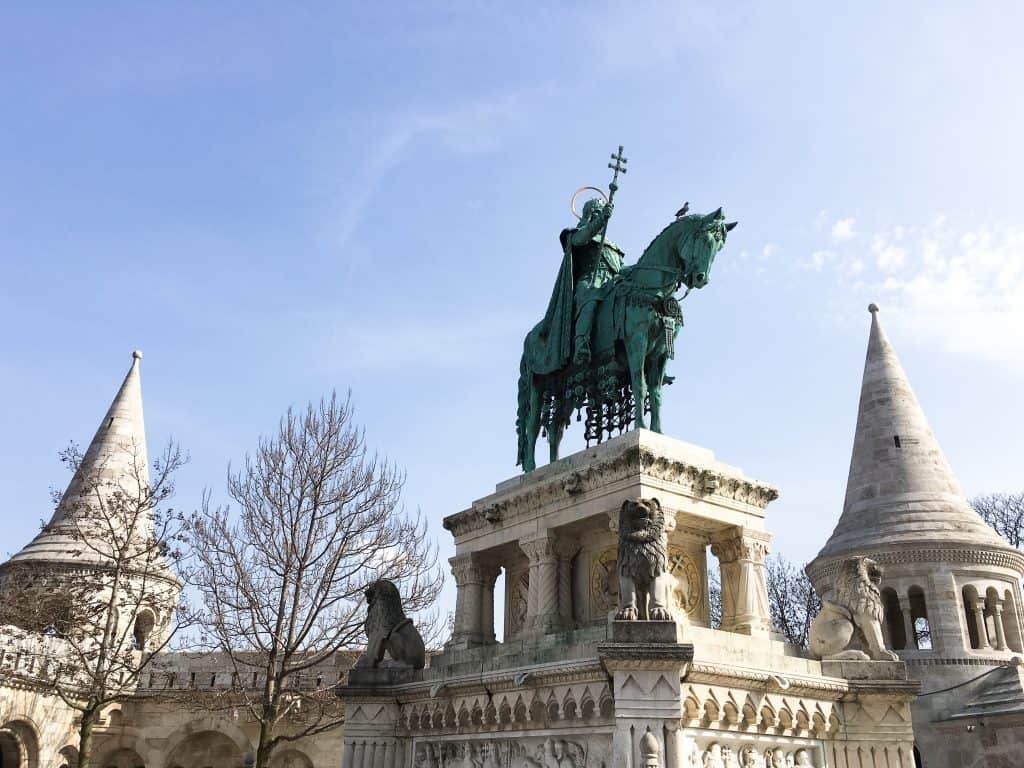 Statue of Saint Stephen Buda Castle Budapest Hungary
