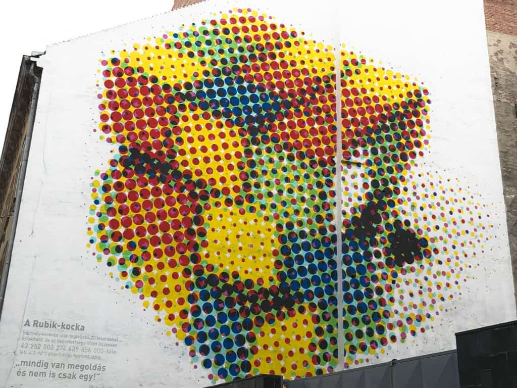 Rubiks cube street art in Budapest | Street Art Tours: the best way to discover the living city