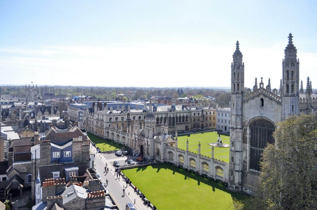 View of Cambridge, England from Great St. Mary's Church | Oxford vs Cambridge: The best English University town
