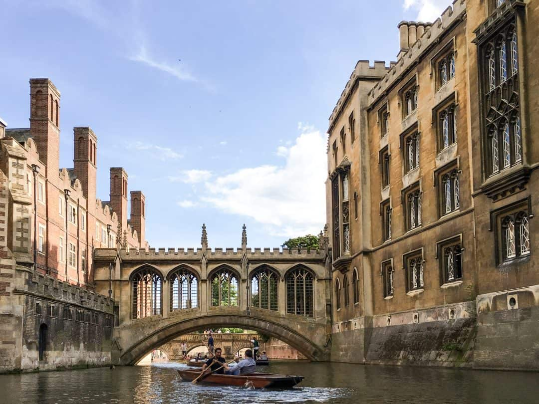 Bridge of Sighs in Cambridge, England