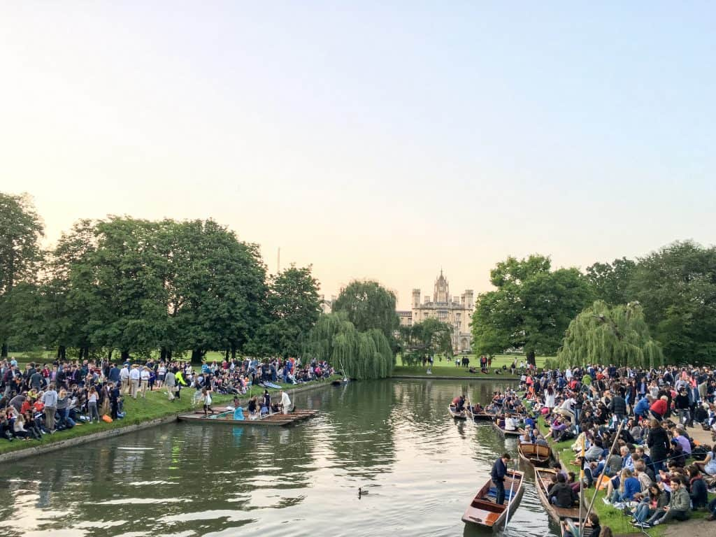 Singing on the River, Trinity College at Cambridge University   Oxford vs Cambridge: The best English University town