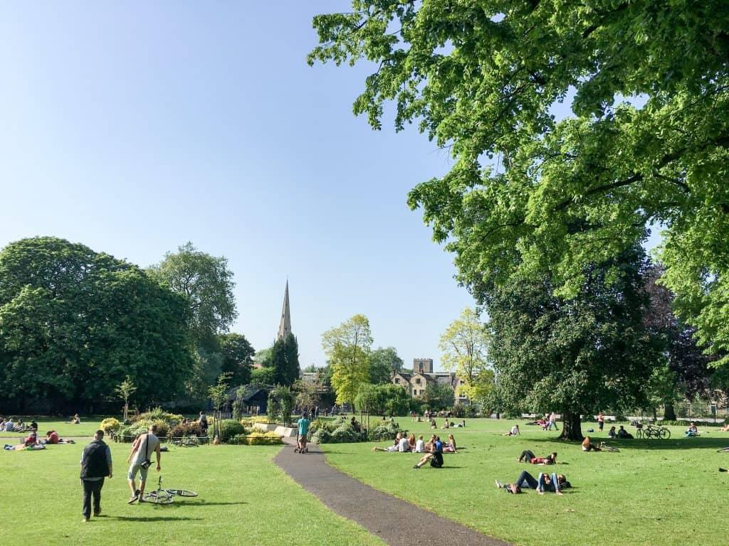 Christ's Pieces in Cambridge, England   Oxford vs Cambridge: The best English University town