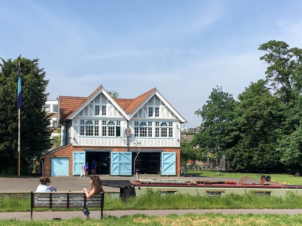 Boat house on the River Cam in Cambridge, England   Oxford vs Cambridge: The best English University town