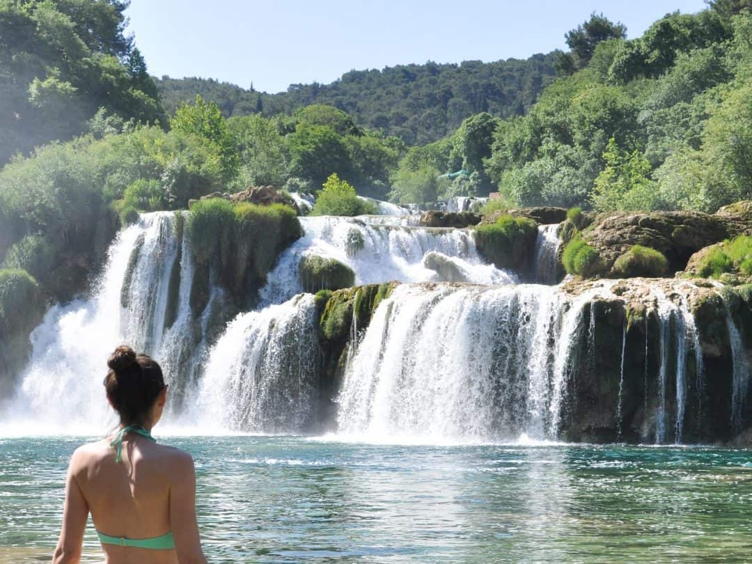 Swimming in Krka National Park | Skradinski Buk Waterfalls Croatia