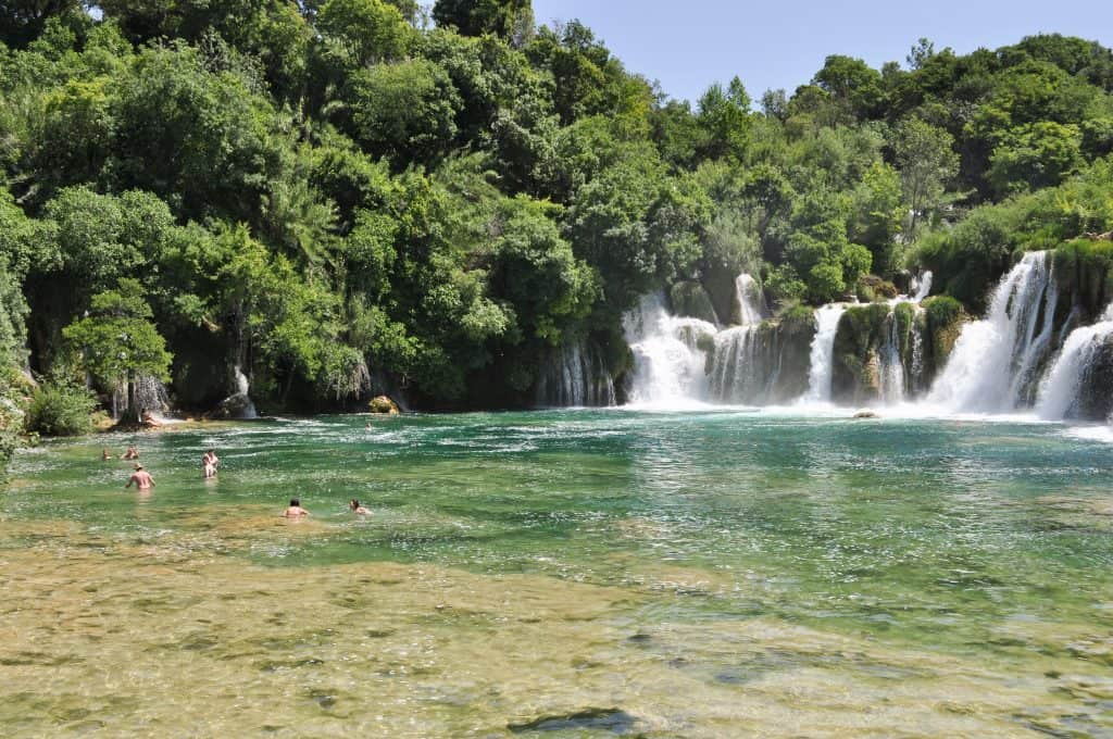 Swimming in Krka National Park, Croatia | Skradinski Buk Waterfalls