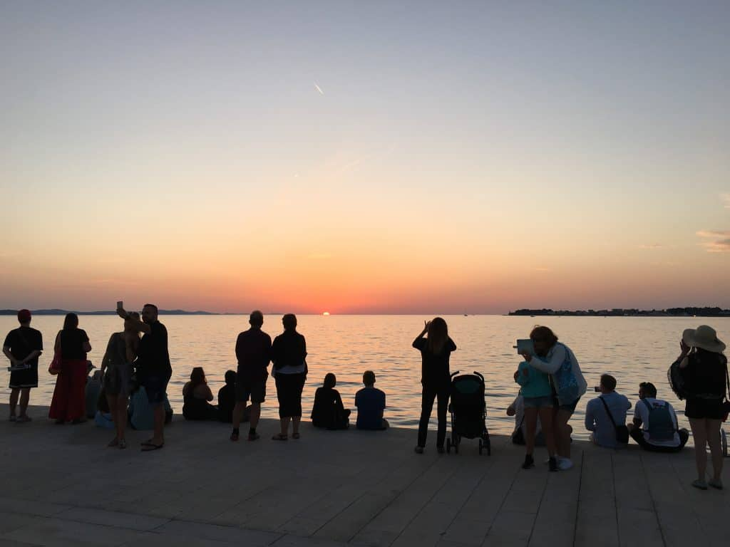 Croatia Zadar Sunset Adriatic