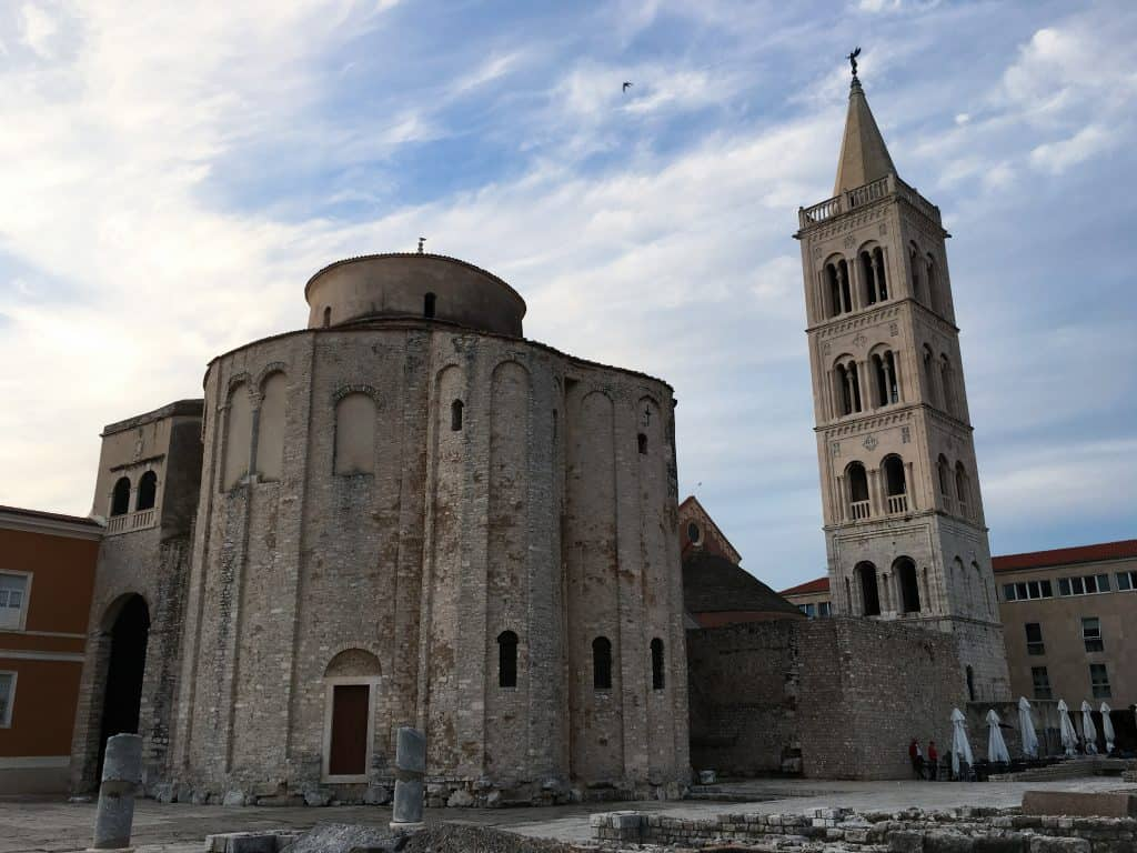 Croatia Zadar Church of St. Donatus Roman Ruins