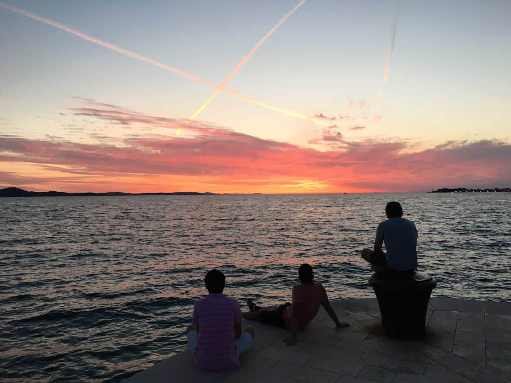 Sunsets in Zadar, Croatia
