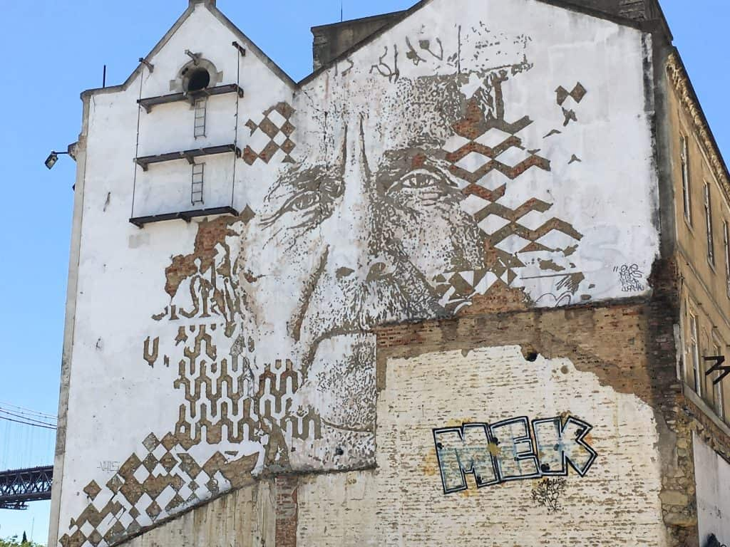 Lisbon Street Art in Alcantara by artist Vhils | Street Art Tours: the best way to discover the living city