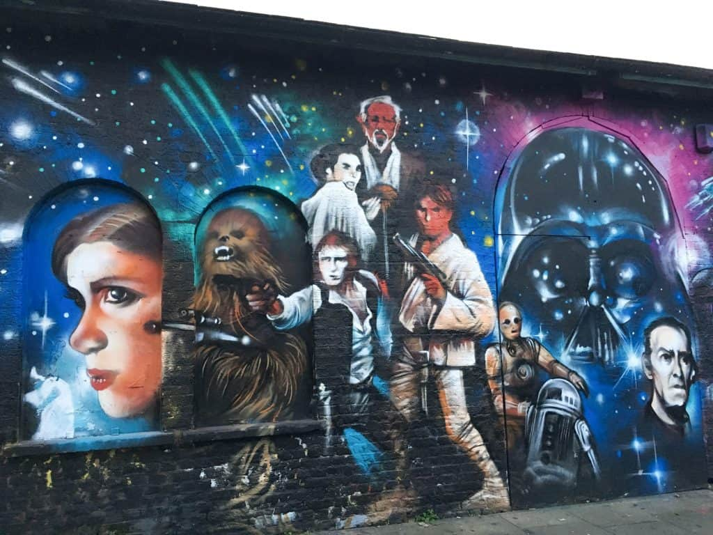 Star Wars Street Art Mural in Brick Lane area of East London | Street Art Tours: the best way to discover the living city