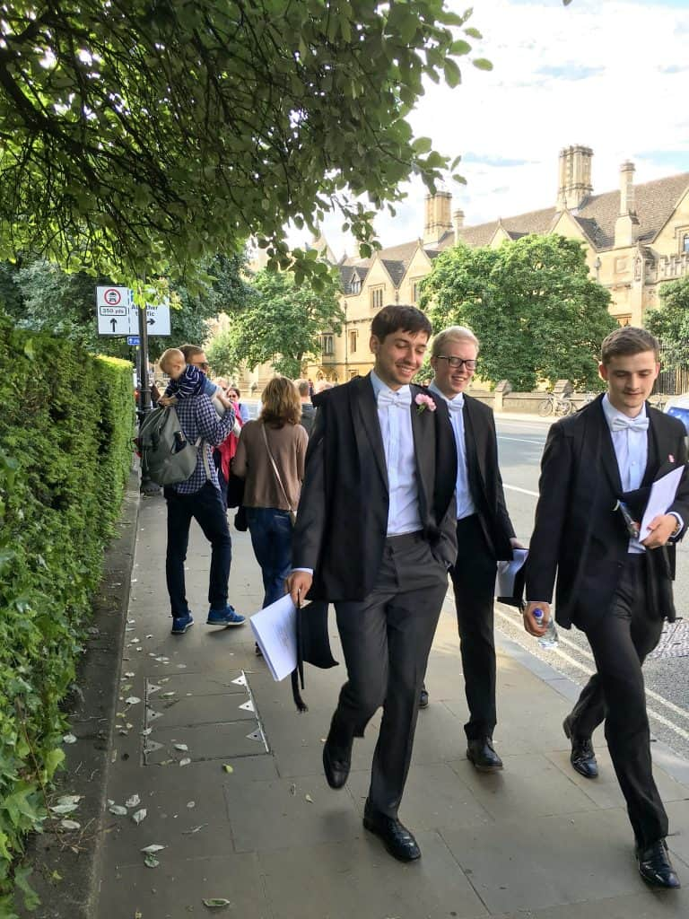 Students at the University of Oxford, England