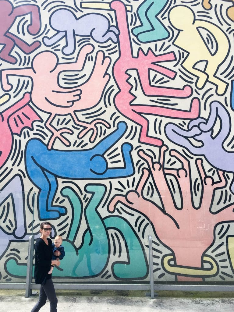Murale Tuttomondo di Keith Haring in Pisa, Italy near the train station | Street Art Tours: the best way to discover the living city