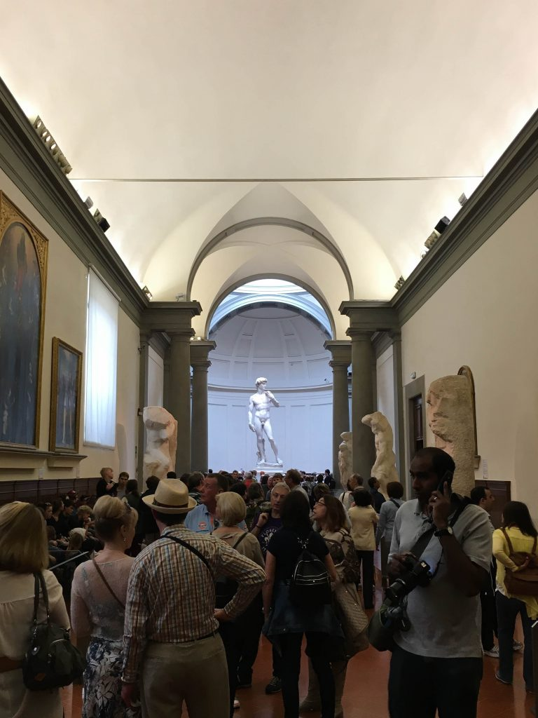 We were only in Florence for a day, so we focused on the must sees. We stuck to the Ds (the David and the Duomo), the Gs (Giotto's bell tower and gelato) and the Ps (Michelangelo Piazza and pizza).