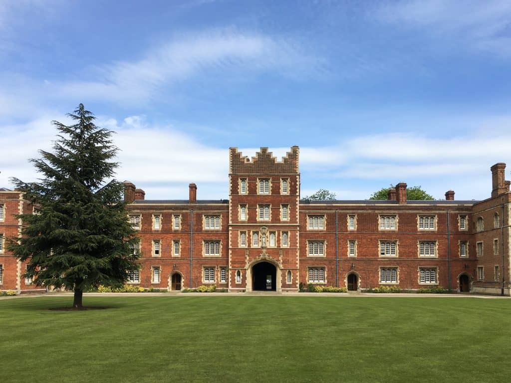 Jesus College at Cambridge University, England | Each college has it's own deep history, unique architecture, and stunning grounds and gardens to explore.
