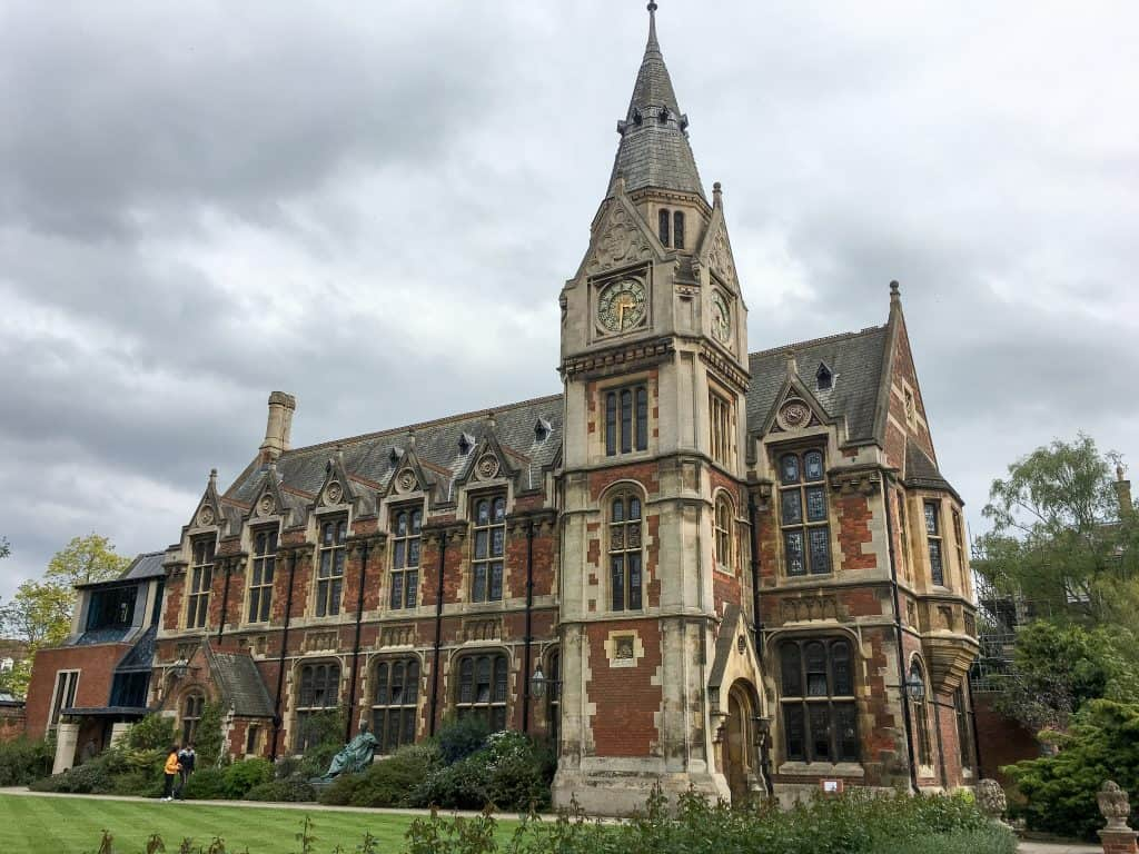 Pembroke College at Cambridge University, England | Each college has it's own deep history, unique architecture, and stunning grounds and gardens to