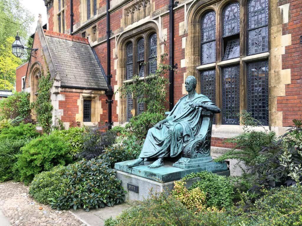Pembroke College at Cambridge University, England | Each college has it's own deep history, unique architecture, and stunning grounds and gardens to explore.
