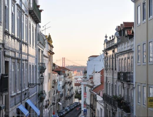 Streets of Príncipe Real in Lisbon, Portugal