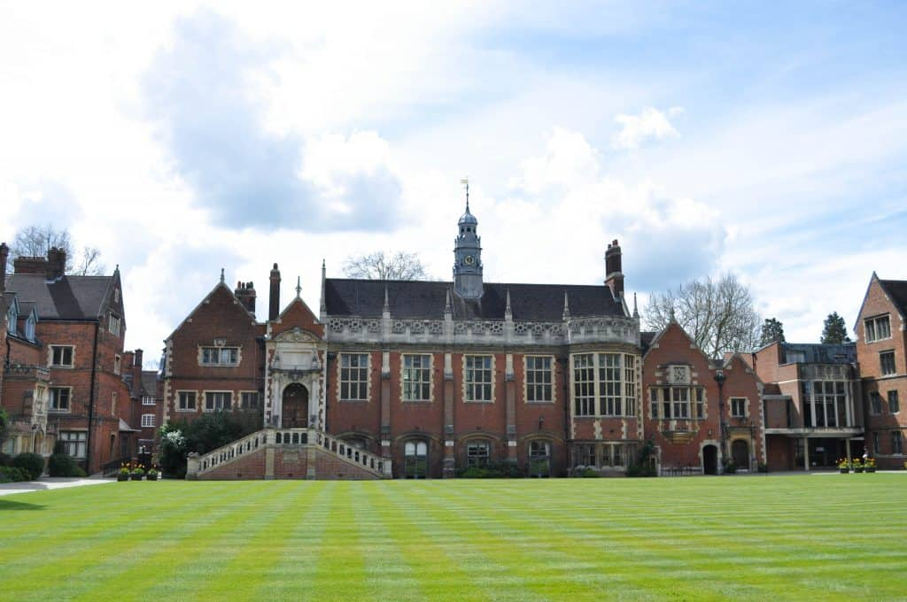Selwyn College at Cambridge University, England | Each college has it's own deep history, unique architecture, and stunning grounds and gardens to explore.