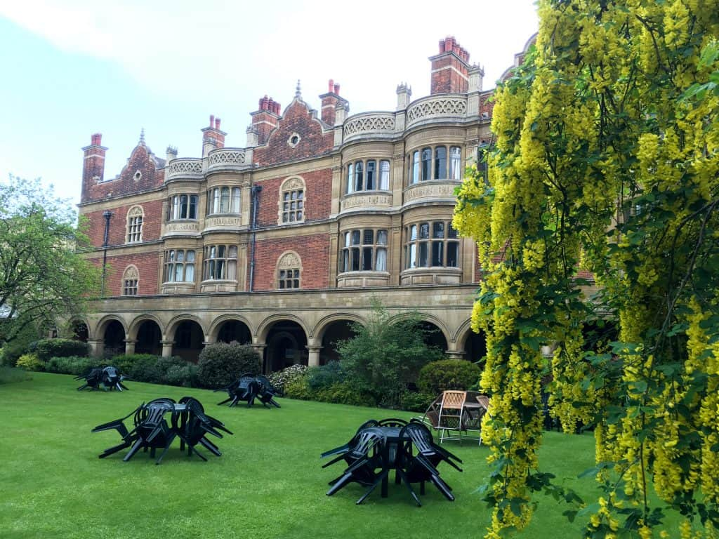 Sidney Sussex at Cambridge University, England | Each college has it's own deep history, unique architecture, and stunning grounds and gardens to explore.