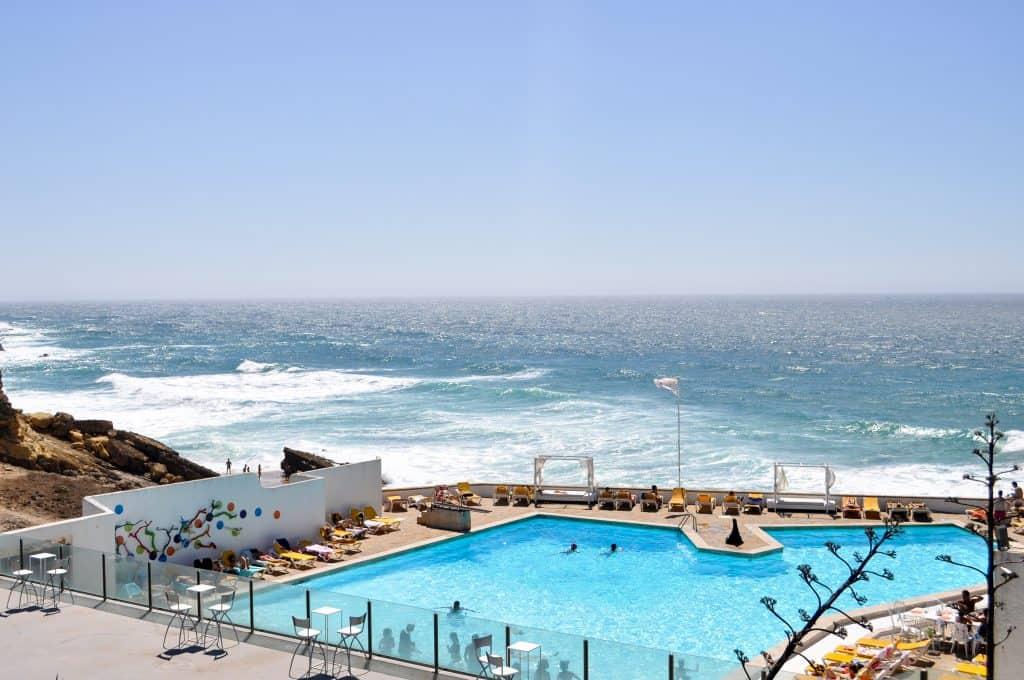 Public pool near Praia do Guincho near Cascais, Portugal