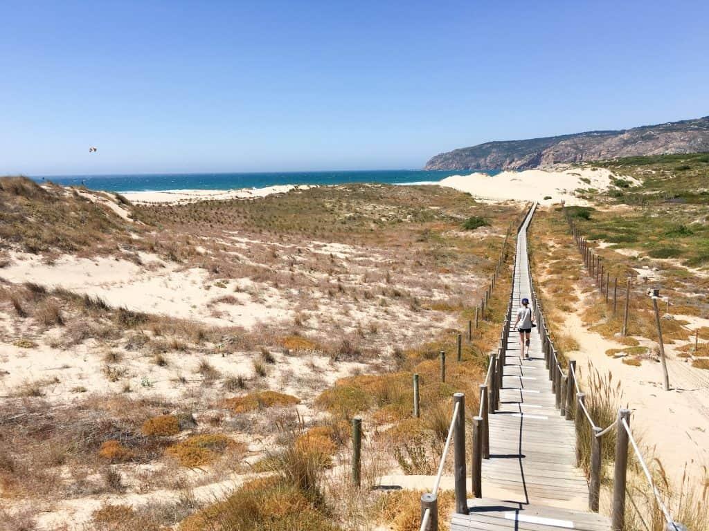 Sand dunes at Praia do Guincho near Cascais, Portugal | The perfect beach trip from Lisbon