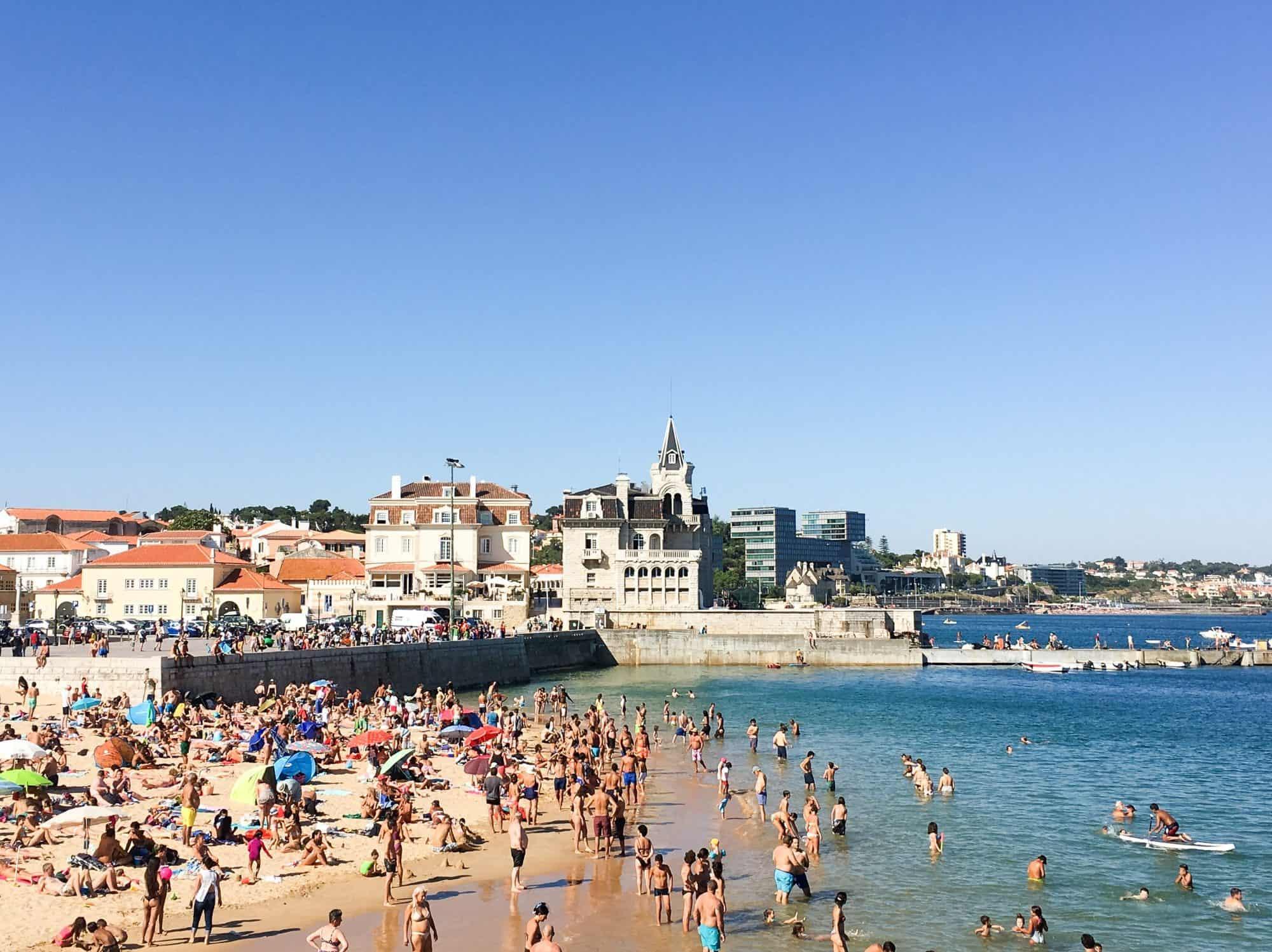 Praia da Ribeira Beach in Cascais, Portugal | A Day Trip to Cascais: The Best Beach Escape from Lisbon