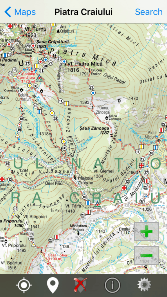 Phone app with Trail maps for hikes in Romania National Parks, including Piatra Craiului Mountains | Hiking in Romania