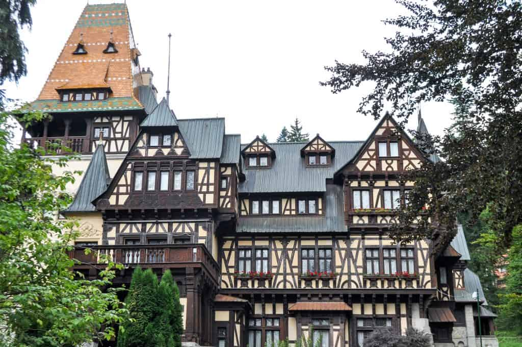Pelisor Castle, right next door to the beautiful Peles Castle in Sinaia, Romania