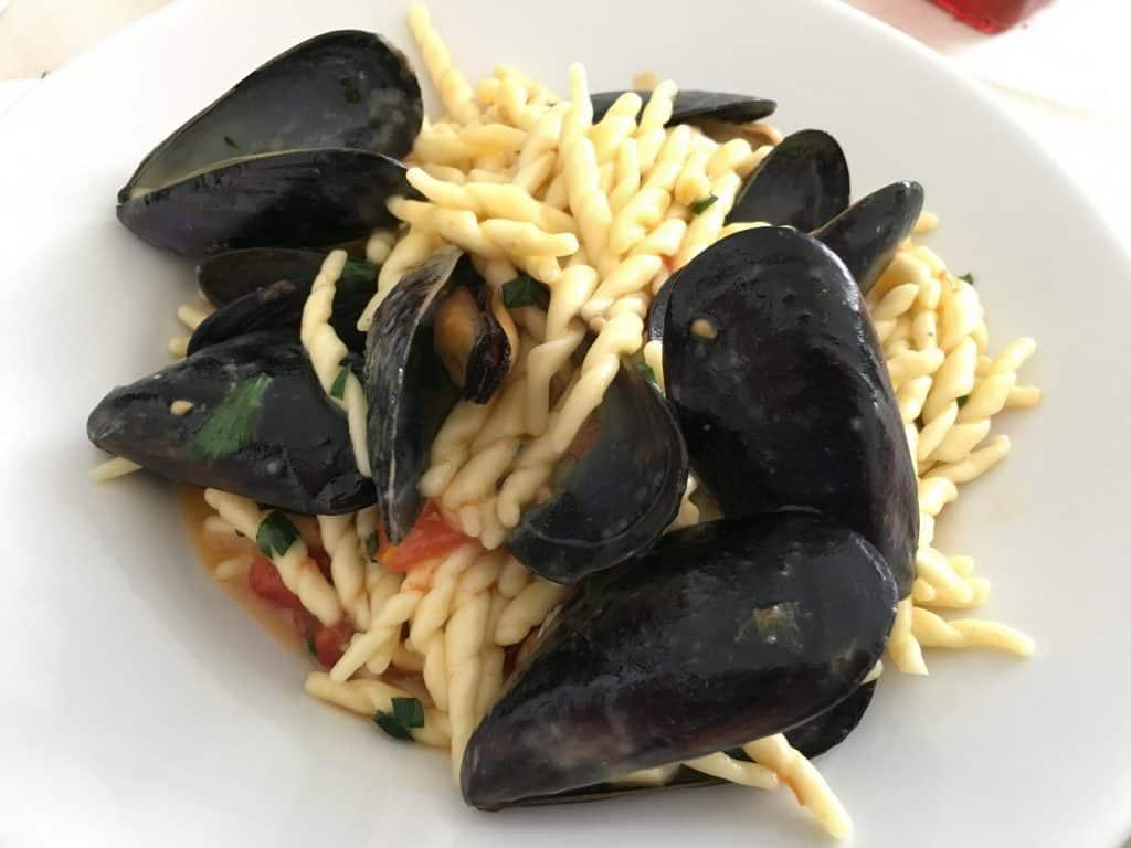 Seafood Pasta on the Amalfi Coast, Italy