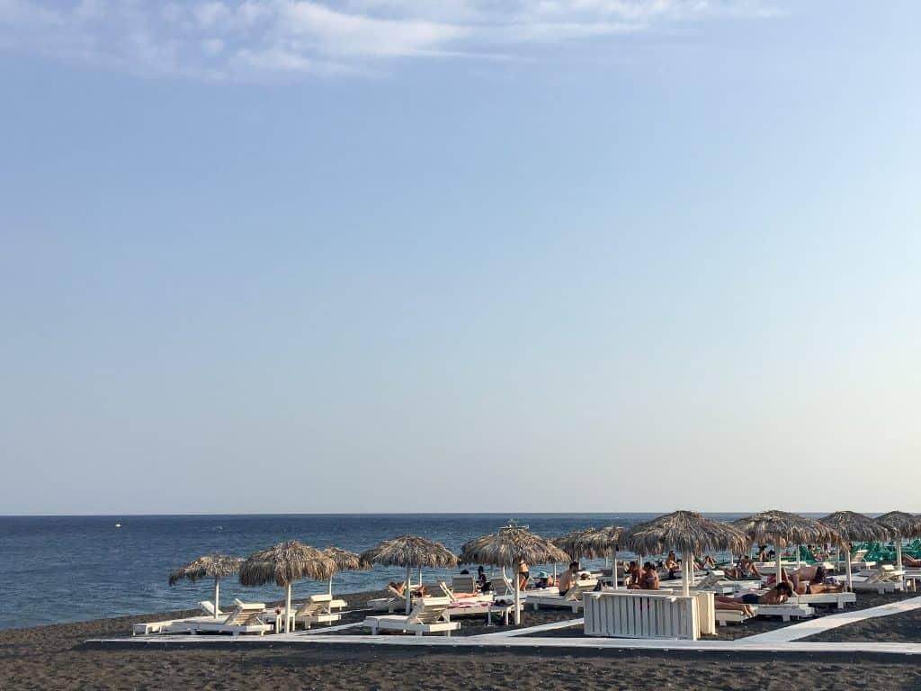 The Black Sand Beach In Perissa Santorini Tips For A