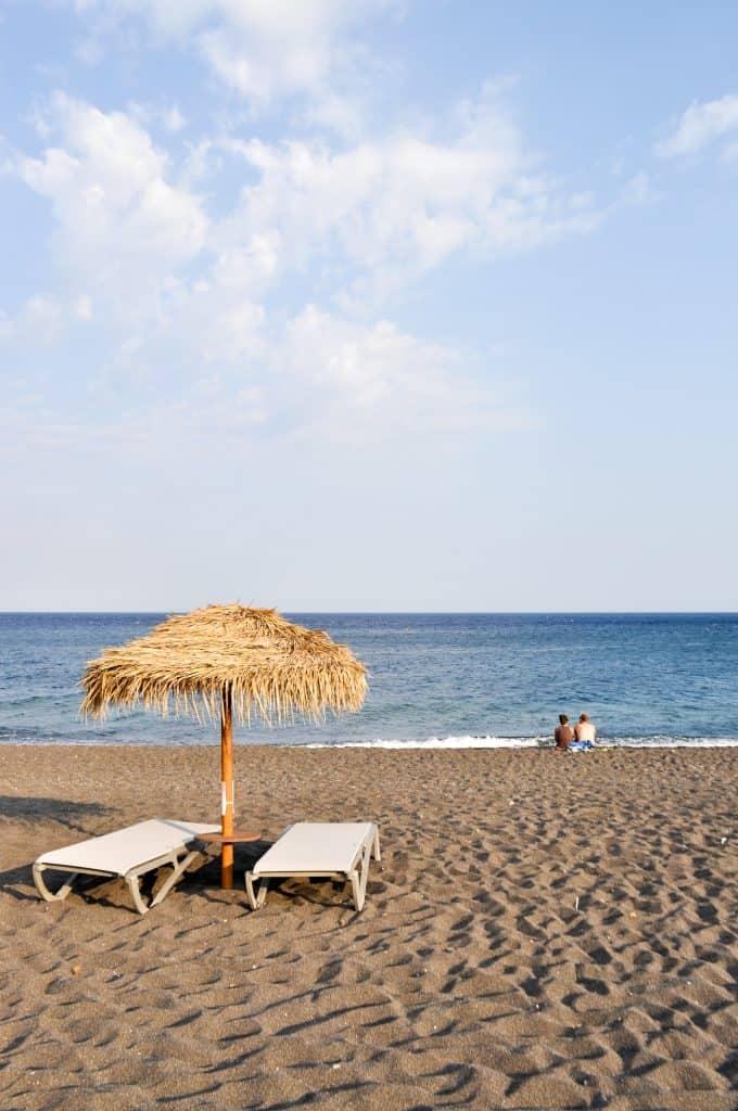 Black Sand Beach in Perissa | Santorini, Greece