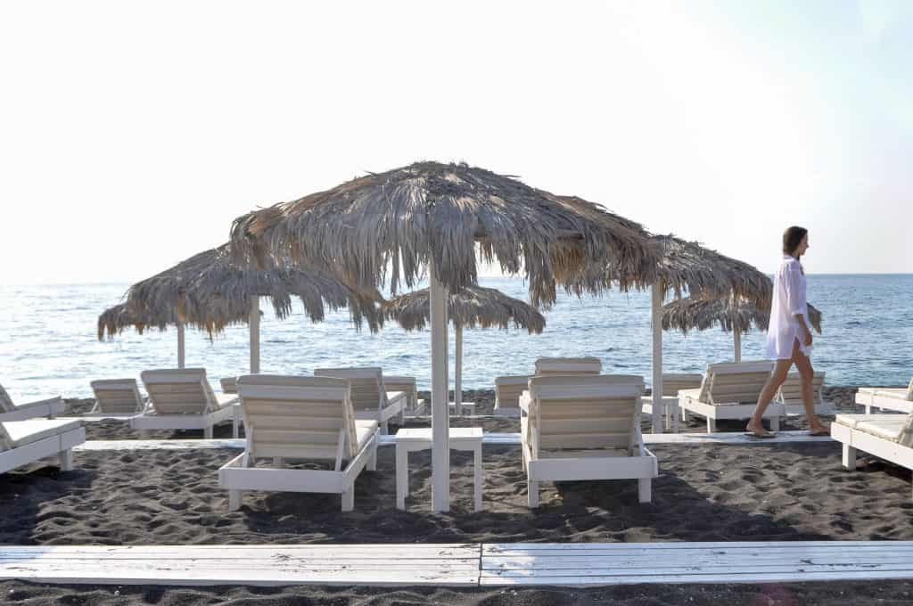 Perissa, Santorini | Relax on the Black Sand Beach