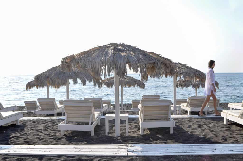 Perissa, Santorini | Relax on the Black Sand Beach