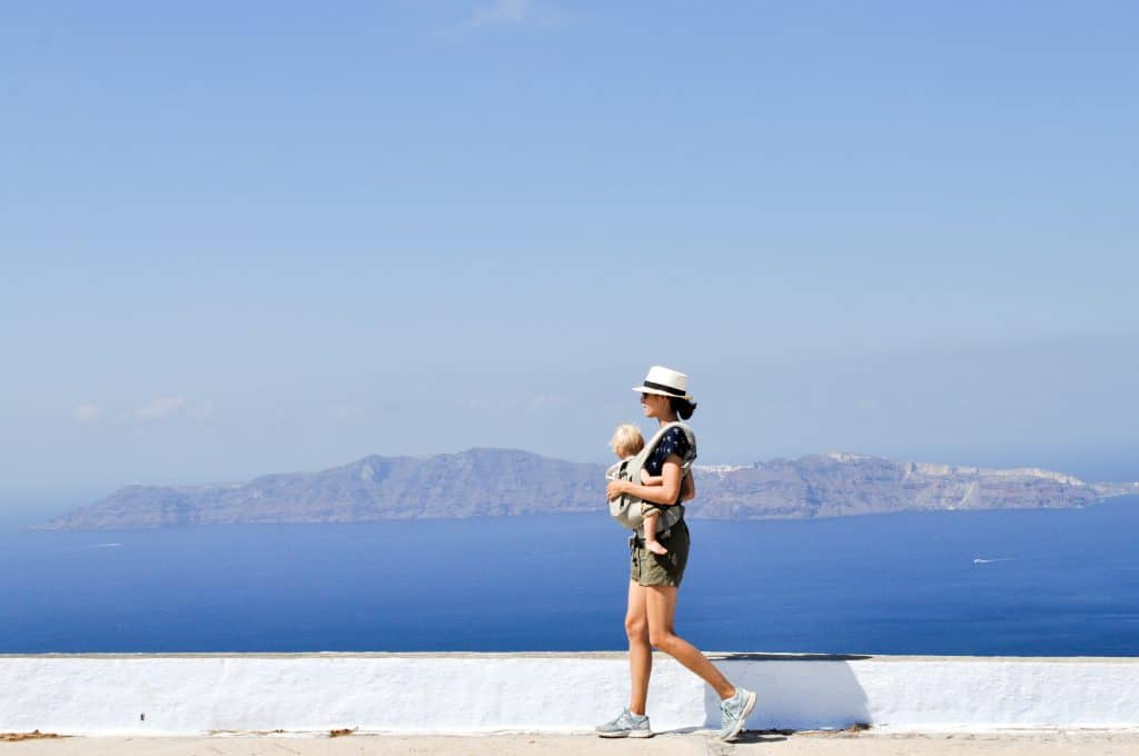 Top 10 Things to Do in Santorini, Greece | Get off the beaten path with a cliff walk from Fira to Oia, go cliff jumping, and eat €2 gyros.