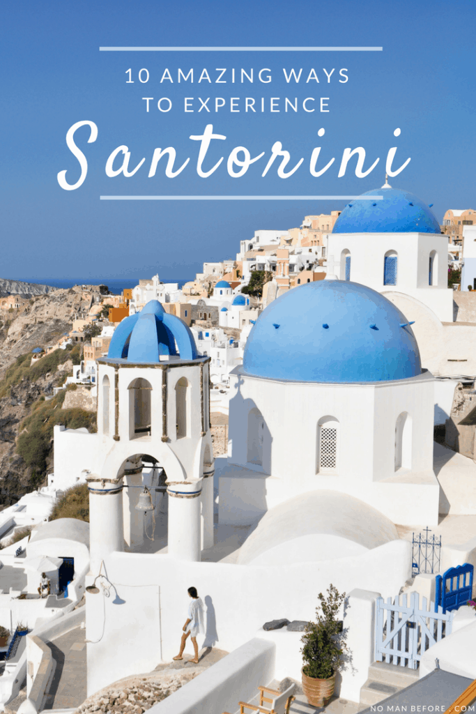 10 Amazing Ways to Experience Santorini, Greece | Get off the beaten path with a cliff walk from Fira to Oia, go cliff jumping, and eat €2 gyros.