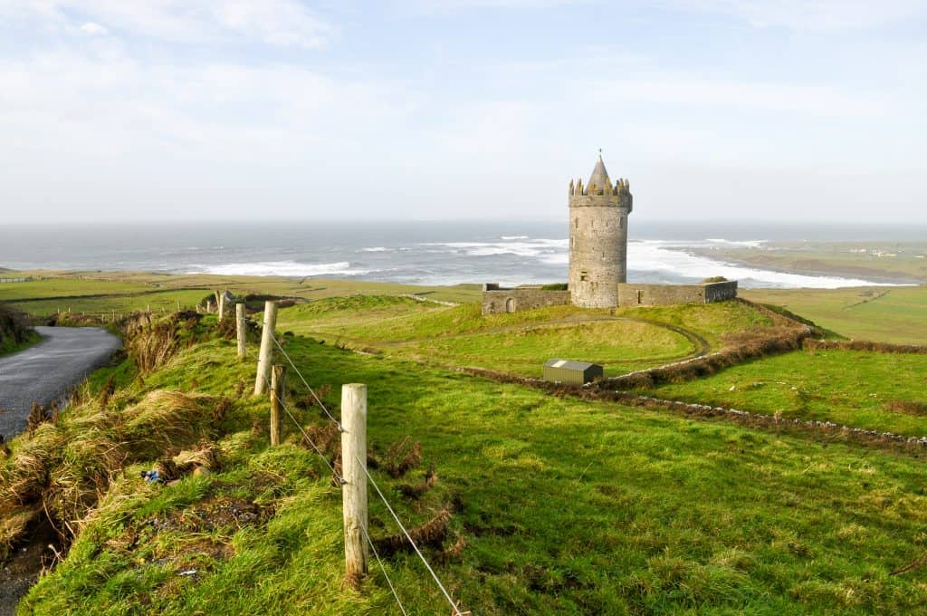 Castle Tower near the Cliffs of Moher | Best Hikes in Ireland