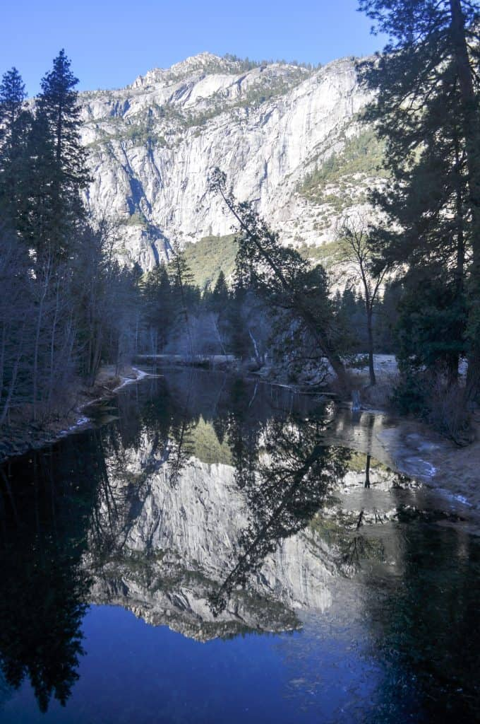Winter hiking in Yosemite National Park