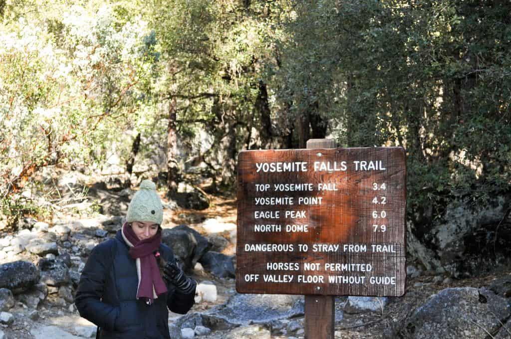 Winter hiking in Yosemite