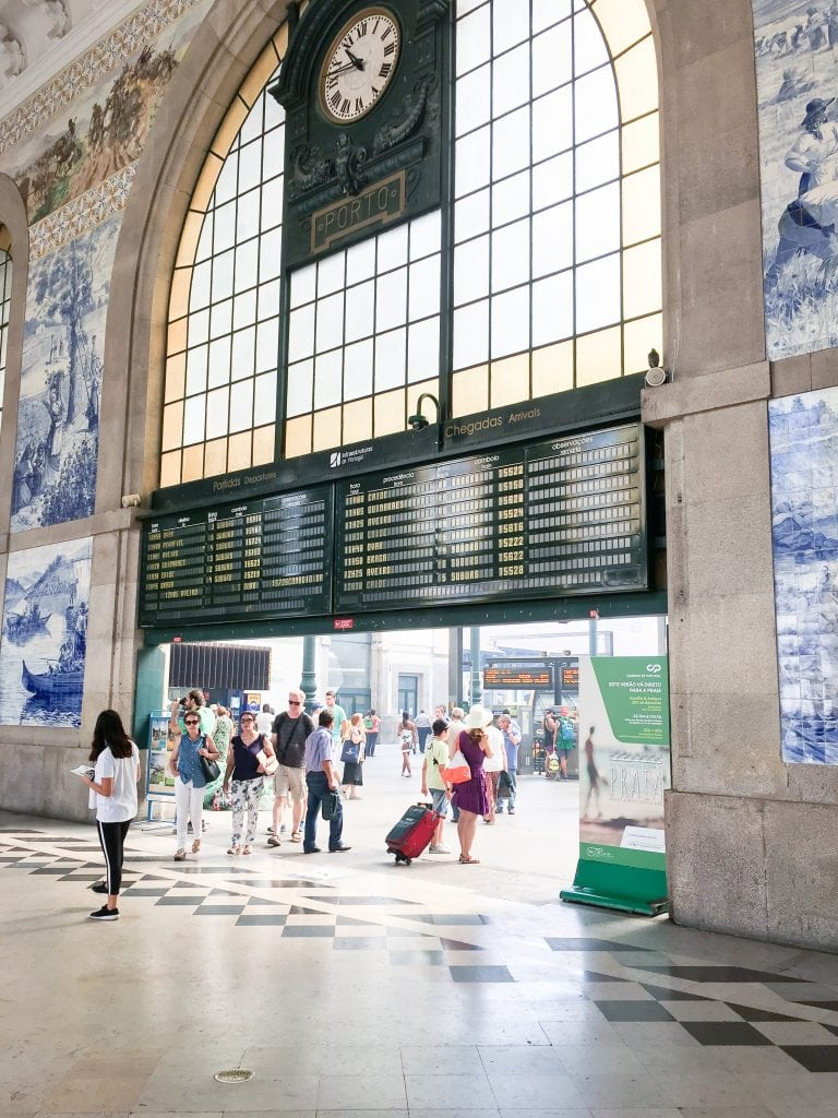 Sao Bento Train Station in Porto, Portugal