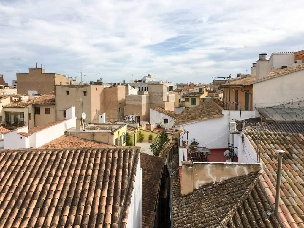 Visiting Mallorca in the Winter | Rooftops in Palma de Mallorca, Spain