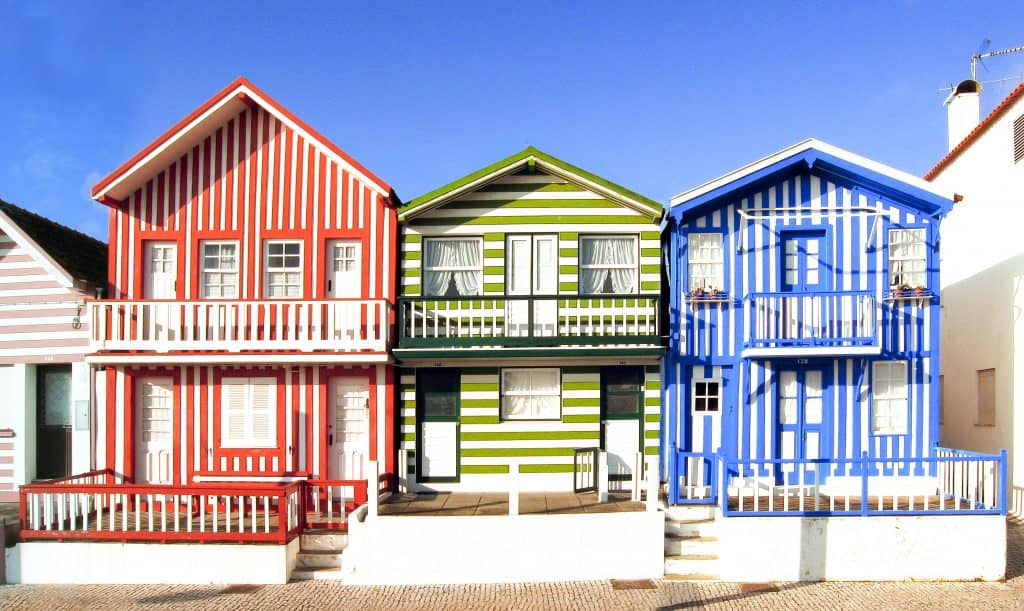 Candy colored beach houses in Aveiro | The 19 Best Places to Visit in Portugal
