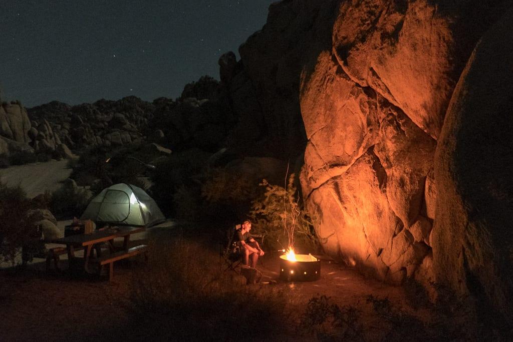 Summer Camping in Joshua Tree National Park, California ...