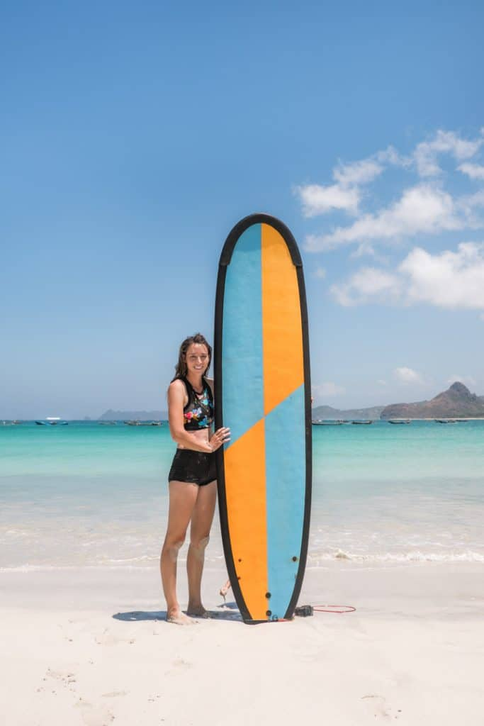 20 Photos to Inspire You to Visit Lombok | Surfing in Selong Belanak Beach in Lombok, Indonesia